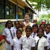 Jo Taylor, Sri Lanka, 2008 (with pupils)