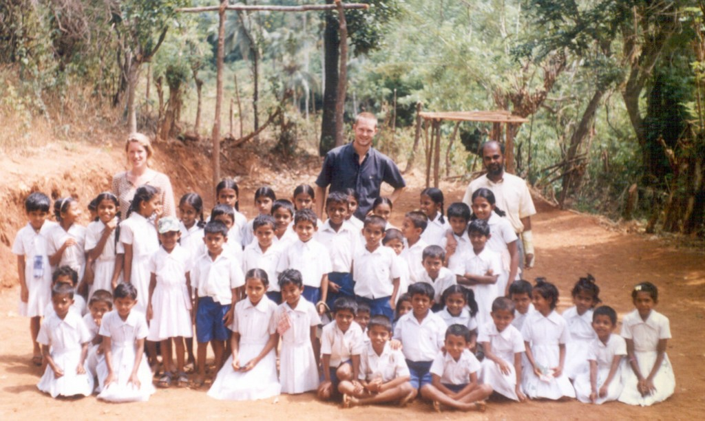 """VESL 2003"" sign, North Trinco. Sri Lanka, 2003"