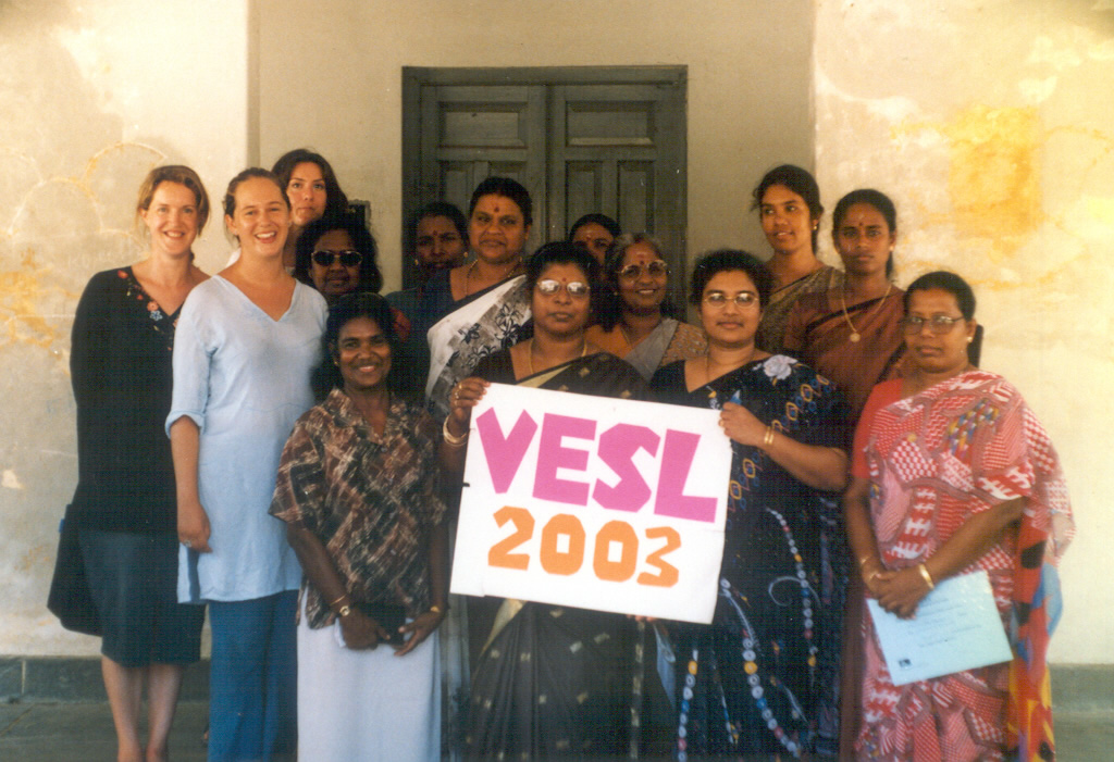 """VESL 2003"" sign, North Trinco. Sri Lanka, 2003"
