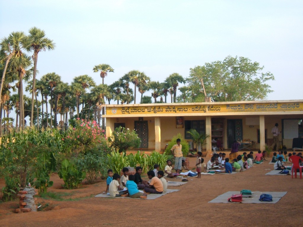 School at dusk, (Tom Grellier) India, 2007