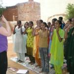 Fiona volunteering in India
