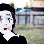 Mime 'surprise', by Lauren Macdonald