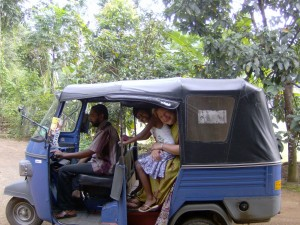 Millicent Scott in a Tuk Tuk