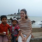 Lauren Pluss at the Southern Tip of India, Kerala, 2011