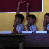 Students on their best behaviour!