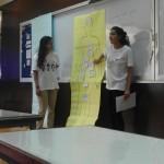 Sonam Verma and Farah Ghouri teaching the body