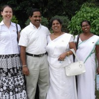 Kerra with the teachers from her school