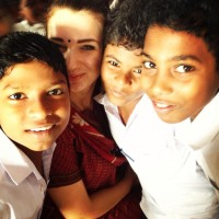 Ola with her students