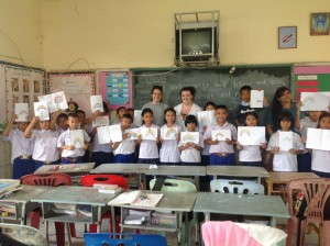 Kim with her Students and  VESL Programme Manager.