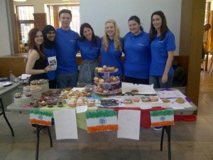 Edge Hill students running a cake sale in 2013