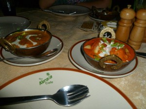 Curry at a cafe in Varkala